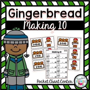 Gingerbread Making 10 Pocket Chart Center