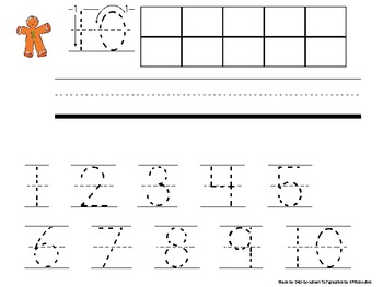 Gingerbread Making 10's frames and Practice Number Formations Book