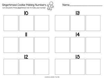 Gingerbread Making Numbers