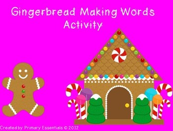 Gingerbread Making Words Activity {FREE}