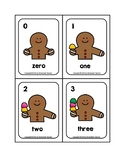 Gingerbread Man 0-10 Counting Picture Word Flash Cards