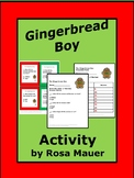 Gingerbread Boy Activity Task Cards and Worksheet