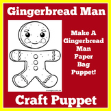 Gingerbread Man Puppet | Gingerbread Man Craft | Gingerbread Man Kindergarten