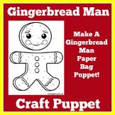 Gingerbread Man Craft Template