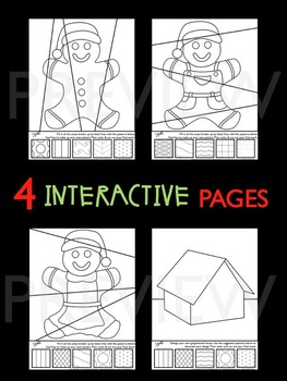 "Gingerbread Man Activities ""Pop Art"" Coloring Sheets - Great Holiday Activity!"