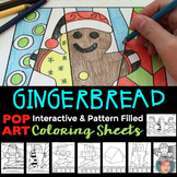"Gingerbread Man Activities ""Pop Art"" Coloring Sheets - Gre"