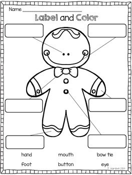 picture relating to Gingerbread Man Printable referred to as Gingerbread Male Actions