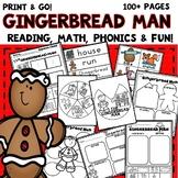 Gingerbread Man Activities kindergarten first grade