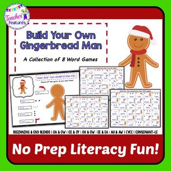 Gingerbread Man Activities | Word Games