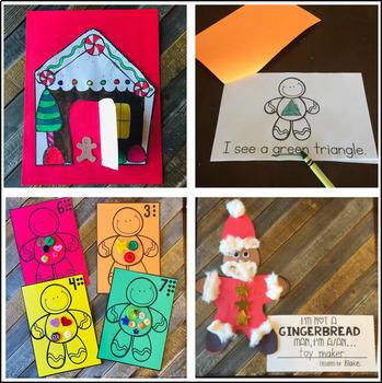 Gingerbread Man Activities, Centers and Crafts for Preschool and Kindergarten
