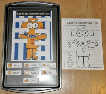 "Gingerbread Man Activities:  ""Gingerbread Man Cookie Sheet"