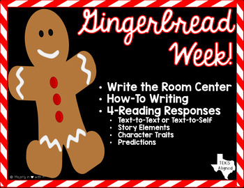 Gingerbread Man Activities: Reading, Writing, & Spelling {
