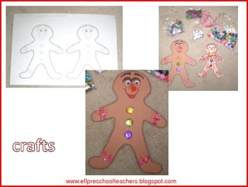 Gingerbread Man Activities for ELL