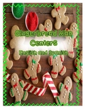 Gingerbread Man Activties for Centers English and Spanish
