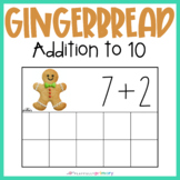 Gingerbread Man Addition Frames   Mini Eraser Math Activity