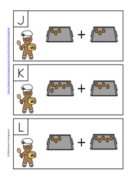 Gingerbread Man Addition Within 10 Cookies Add the Room