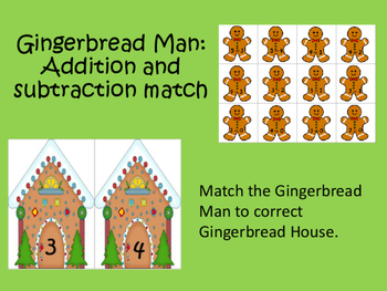 Gingerbread Man: Addition and Subtraction Facts