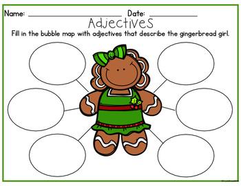 Gingerbread Man Adjectives