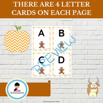 Gingerbread Man Alphabet Cards Uppercase and Lowercase