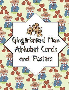 Gingerbread Man Alphabet Cards and Posters