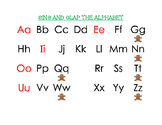 Gingerbread Man Alphabet Chart