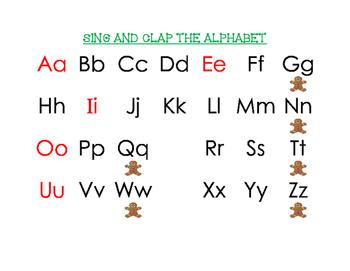 Gingerbread Man Alphabet Chart
