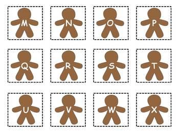 Gingerbread Man Alphabet Literacy Center {FREEBIE}