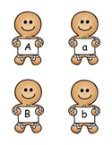 Gingerbread Man Alphabet Match:  Upper and Lower Case Letters