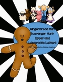 Gingerbread Man Alphabet Scavenger Hunt: Upper and Lowercase Letters