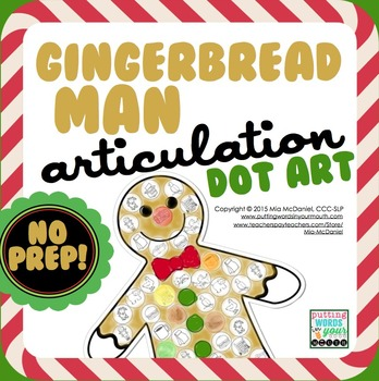 Gingerbread Man Dot Art {all sounds & NO prep!}