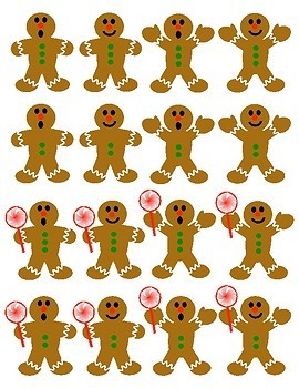 Gingerbread Man Attribute Sorting Cards: Holiday Math Center