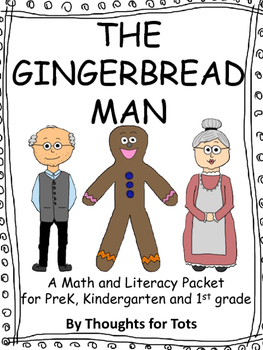 Gingerbread Man BUNDLE! Glyph, Literacy and Math, Prek and Kindergarten