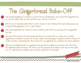 Gingerbread Man Bake-Off - Writing a Set of Directions - C