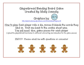 Gingerbread Man Blending Board Game