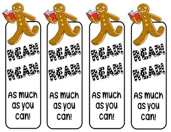 Gingerbread Man Bookmark