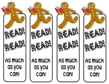 Gingerbread Man Bookmark