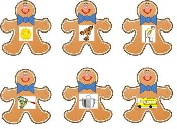Gingerbread Man CVC Literacy Center
