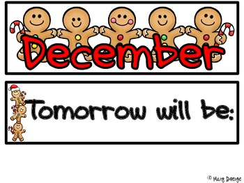 Gingerbread Man Calendar Set