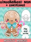 Gingerbread Man + Candycane - Moonju Makers for Activities, Craft, Decor,Writing