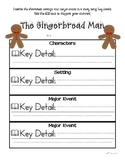 Gingerbread Man - Character, Setting, and Major Events CCSS aligned