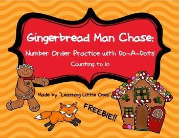 Gingerbread Man Chase FREEBIE!