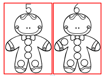 Dot Markers Gingerbread Man Numbers