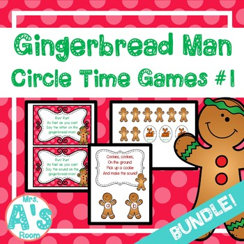 Gingerbread Man Circle Time Activities Set #1 **BUNDLE**