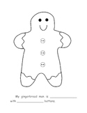 Gingerbread Man Class Book Page