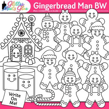 Gingerbread Man Clip Art | Christmas Activities & Scrapbooking Use