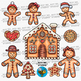 Gingerbread Man Clip Art | Christmas Clipart