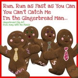 Gingerbread Man Clip Art - Gingerbread Boys and Girls, Clipart for Teachers