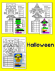 All Year Graphing Shapes Worksheets with Winter Penguins, Valentine's Day & More