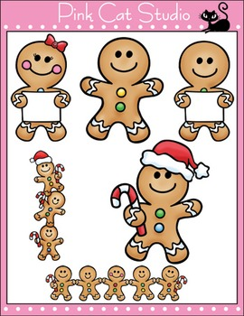 christmas gingerbread man clip art personal or commercial use - Christmas Gingerbread Man
