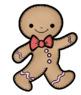 Gingerbread Man Clip Art - Whimsy Workshop Teaching